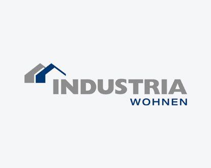 Das Logo der INDUSTRIA Wohnen GmbH.