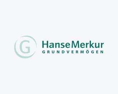 Das Logo der HanseMerkur Grundvermögen AG.