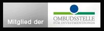 Das Zertifikat demonstriert, dass IntReal Mitglied der Ombudsstelle für Investmentfonds ist.