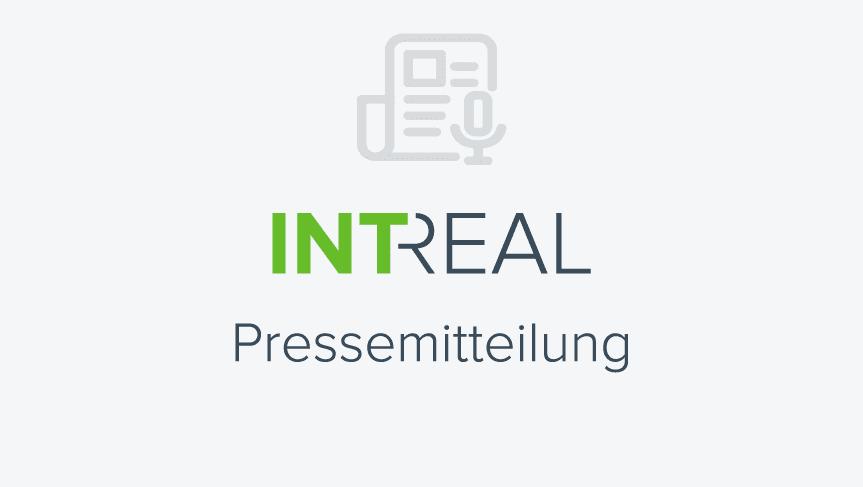 """Die Grafik zeigt den Text """"INTREAL Pressemitteilung""""."""