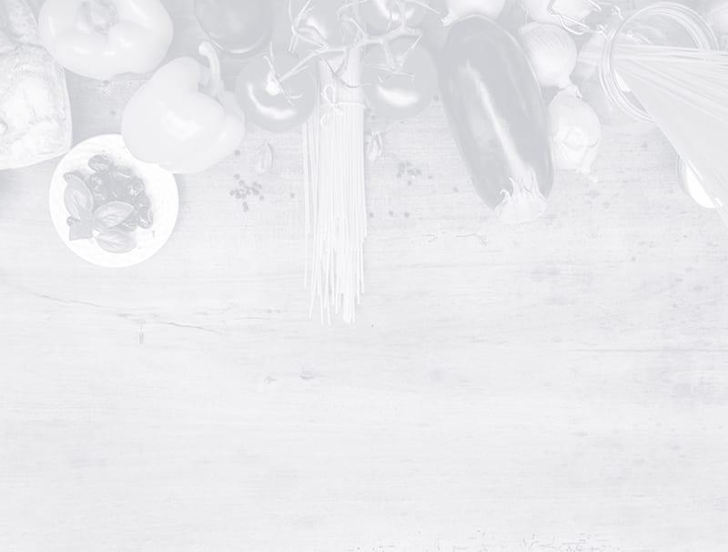 Schwarz-Weiß-Bild, das im oberen Drittel verschiedene Gemüsearten zeigt